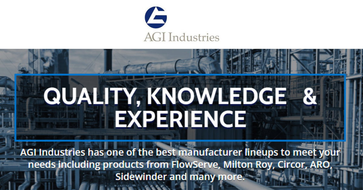 Industrial Fluid Handling Distributor - AGI Industries